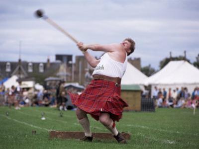 Throwing the Light Hammer, Aboyne Highland Games, Aboyne, Scotland, United Kingdom by Lousie Murray