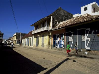 Typical Buildings, Cap Haitien, Haiti, West Indies, Central America by Lousie Murray