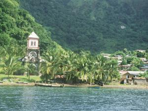 Village of Soufriere and Church from the Sea, Dominica, Windward Islands by Lousie Murray
