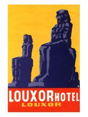 Louxor Hotel Luggage Label by Z