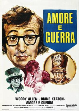 Love and Death, (aka Amore e Guerra), French poster, Woody Allen, Diane Keaton, 1975