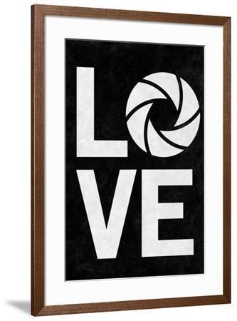 Love Aperture B/Wgraphy--Framed Art Print
