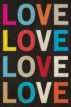 Love (Colorful) Plastic Sign