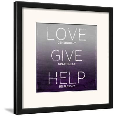 Love, Give, Help (purple)