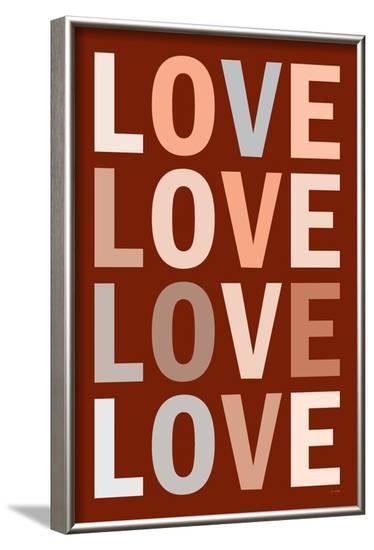 Love (Mocha) Art Poster Print--Framed Poster