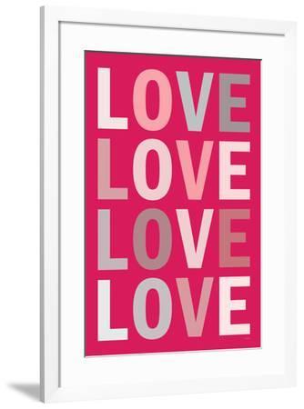 Love (Purple) Art--Framed Art Print