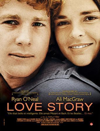 Love Story, Ryan O'Neal, Ali Macgraw, French Poster Art, 1970
