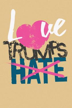 Love Trumps Hate (Vintage Brown)
