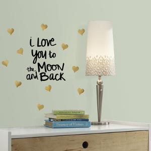 Love You To the Moon Quote Peel and Stick Wall Decals