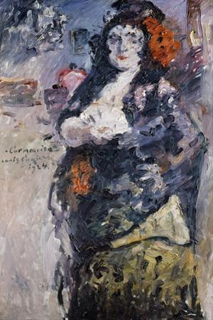 Carmencita (Portrait of Charlotte Berend-Corinth in Spanish Dres) by Lovis Corinth