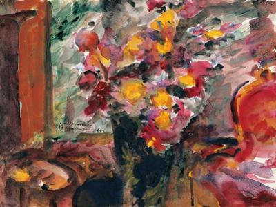 Flower Vase on a Table, 1922 by Lovis Corinth