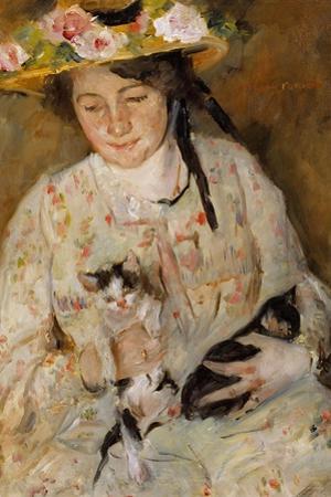 Frau Mit Katzen by Lovis Corinth