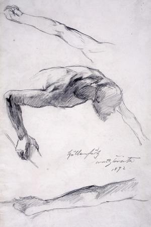 Höllensturz, 1892 by Lovis Corinth