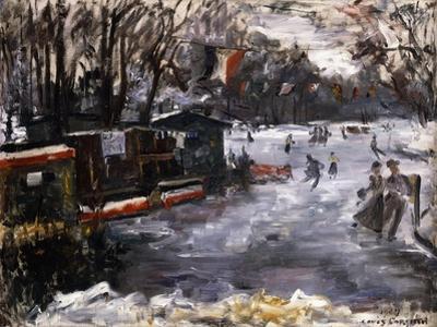 Ice-Skating Rink in the Tiergarten, Berlin; Eisbahn Im Berliner Tiergarten, 1909 by Lovis Corinth