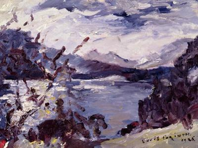 Lake Walchen Surrounded by Mountains, 1925 by Lovis Corinth