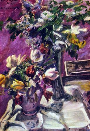 Lovis Corinth Lilac and Tulips Art Print Poster