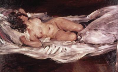 Recumbent Nude by Lovis Corinth