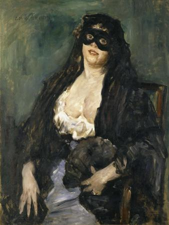 The Black Mask by Lovis Corinth