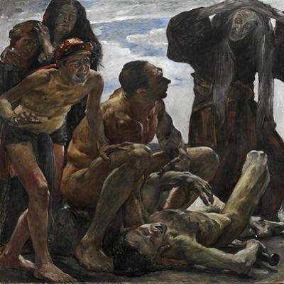 The Mourning by Lovis Corinth