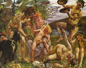 Lovis Corinth (The youth of Zeus) Art Poster Print