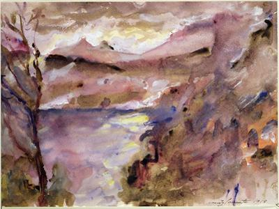 View of Walchen Lake, 1919 by Lovis Corinth