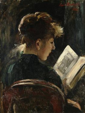 Woman Reading; Lesendes Madchen, 1888 by Lovis Corinth