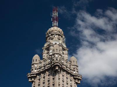 Low Angle View of a Building, Salvo Palace, Plaza Independencia, Montevideo, Uruguay