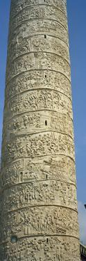 Low Angle View of a Column, Trajan's Column, Trajan's Forum, Rome, Italy