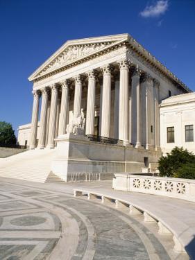 Low Angle View of a Government Building, Us Supreme Court Building, Washington DC, USA