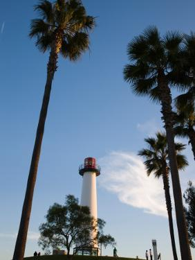 Low Angle View of a Lighthouse, Shoreline Village, Long Beach, Los Angeles County, California, USA