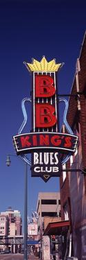 Low Angle View of a Signboard of a Restaurant, B.B. King's Blues Club, Beale Street, Memphis