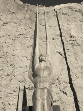 Low Angle View of a Statue at a Dam, Boulder City, Hoover Dam, Nevada, USA