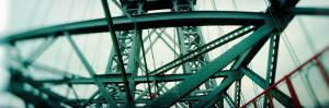 Low Angle View of a Suspension Bridge, Williamsburg Bridge, New York City, New York State, USA