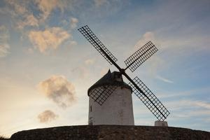 Low angle view of a traditional windmill, Don Quixote's Windmills, Consuegra, Toledo Province, C...