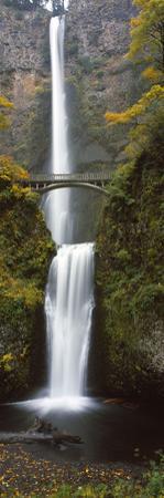 Low Angle View of a Waterfall, Multnomah Falls, Columbia River Gorge, Multnomah County, Oregon, USA