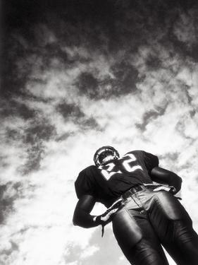 Low Angle View of An American Football Player