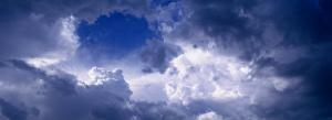 Low Angle View of Cumulus Cloud in the Blue Sky