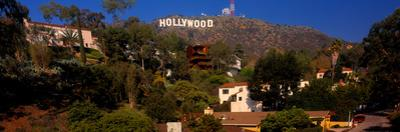 Low angle view of Hollywood Sign, Los Angeles, California, USA