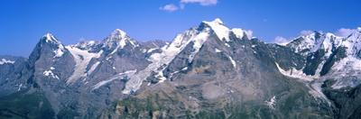 Low Angle View of Mountains, Mt Eiger, Mt Monch, Mt Jungfrau, Bernese Oberland