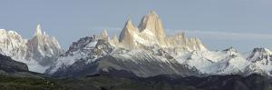 Low Angle View of Mountains, Mt Fitzroy, Cerro Torre, Argentine Glaciers National Park