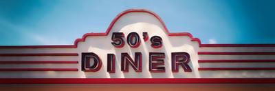 Low angle view of restaurant, 50s Diner, Baguio City, Luzon, Philippines, USA