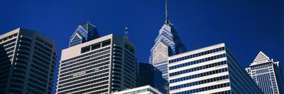 Low angle view of skyscrapers, Philadelphia, Pennsylvania, USA