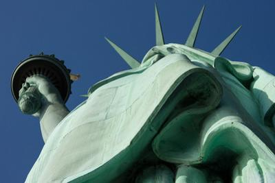 Low angle view of Statue Of Liberty, Manhattan, New York City, New York State, USA