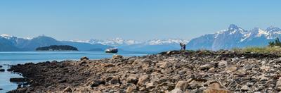 Low tide walk at beach, Southeast Alaska, Alaska, USA