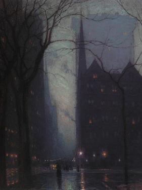 Fifth Avenue at Twilight, c.1910 by Lowell Birge Harrison