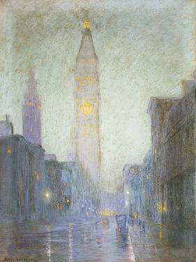 Madison Avenue at Twilight, c.1911 by Lowell Birge Harrison