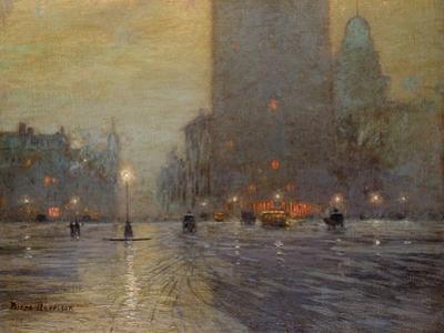 Madison Square, Rainy Night