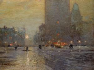 Madison Square, Rainy Night by Lowell Birge Harrison