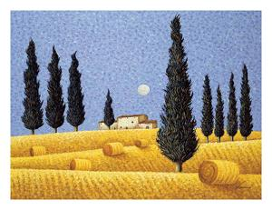 Cypress and Hay by Lowell Herrero