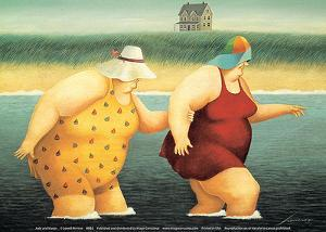 Judy and Marge by Lowell Herrero